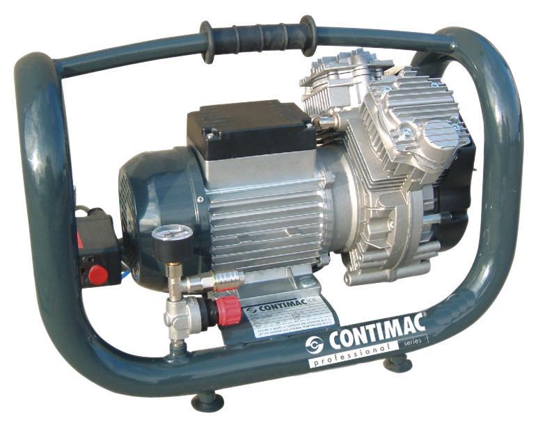 Compressor Contimac Olievrij 1.5Pk 10Bar 5L 240L/Min Silent